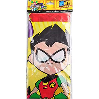 Teen Titans Go The Movie Party Tablecover Decoration Birthday Tablecloth Robin Starfire Cyborg Beast Boy Raven: Toys & Games