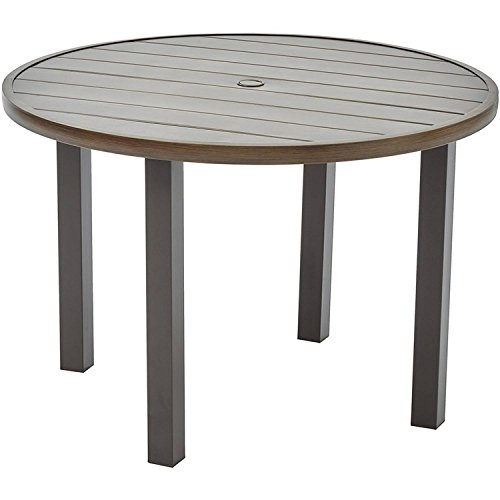 Better Homes and Gardens Camrose Farmhouse Mix and Match Steel Slat Round Table