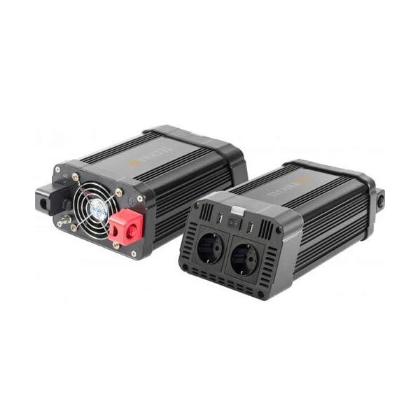 41Lkr7VdPzL Technaxx KFZ Wechselrichter mit LC-Display 12V auf 230V - Auto Inverter mit 2X Schuko-Stecker und 2X USB-Port - Power…
