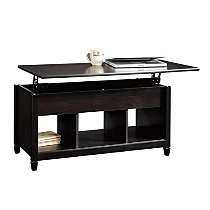 Lift Top Coffee Table Black.Pemberly Row Lift Top Coffee Table In Estate Black