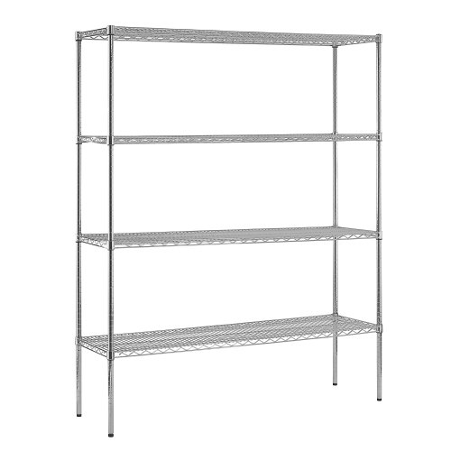 Sandusky WS601886-C Heavy Duty Steel Adjustable Wire Shelving, 600 lbs Capacity, 60