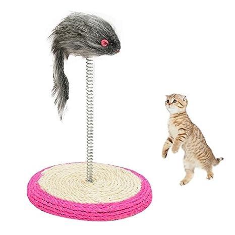 SRY- Suministros de mascotas Juegos de juguetes para gatos de mascotas Sisal Spring Seat Gato