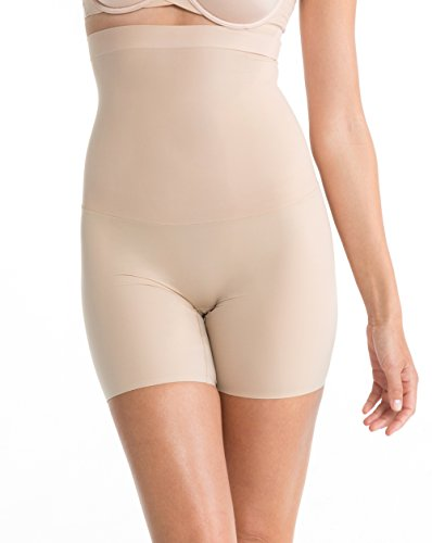 SPANX Women's Shape My Day High Waisted Mid Thigh Shaper, Natural, Large - High Waisted Shaper