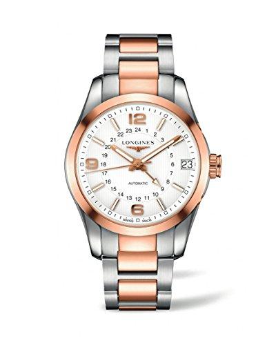 Longines Conquest Classic - L2.799.5.76.7 - 18K Rose Gold Chronograph GMT Automatic Men's