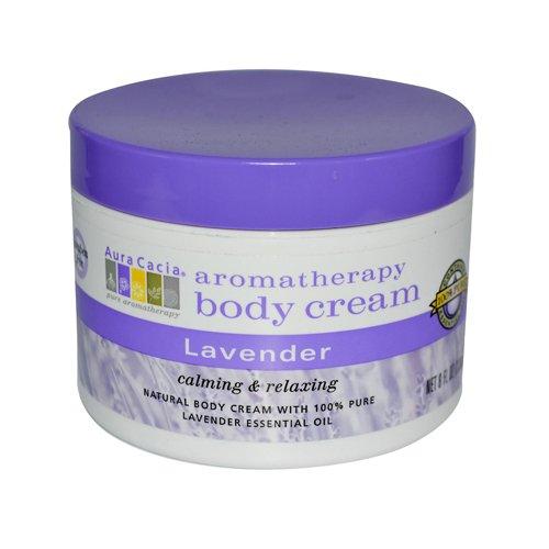 Aura Cacia Body Cream Lavender 8 Oz