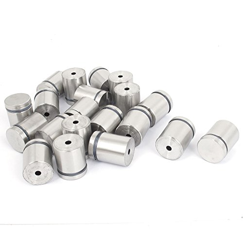 Frameless Glass 25mm x 30mm Stainless Steel Standoff Pins Clamp 20pcs