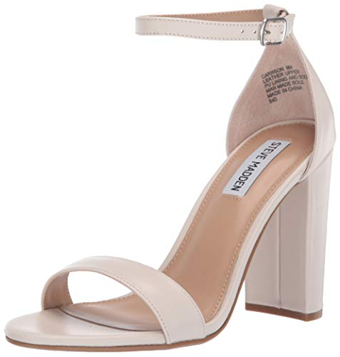 Steve Madden Women's Carrson Heeled Sandal Bone Leather 10 M US