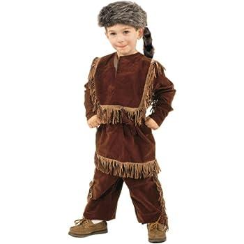 Amazon.com  Daniel Boone Davy Crockett Costume with Raccoon Skin Cap ... 0d9b2564d44