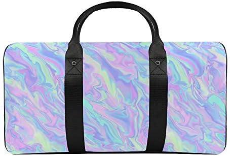 ボーナスオリジナル虹色パターン1 旅行バッグナイロンハンドバッグ大容量軽量多機能荷物ポーチフィットネスバッグユニセックス旅行ビジネス通勤旅行スーツケースポーチ収納バッグ