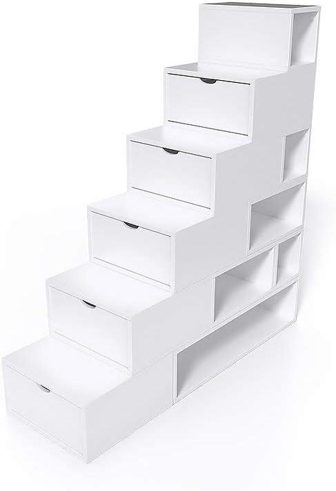 ABC MEUBLES – Escalera Cubo de almacenaje Altura 150 cm MDF – escm150: Amazon.es: Hogar