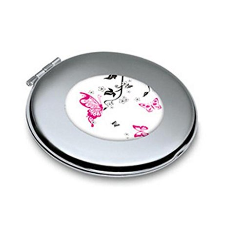 Yingealy Childrens Mirror Mini Butterfly Pattern Round Metal Small Glass Mirrors Circles for Crafts Decoration Cosmetic Accessory by Yingealy (Image #5)