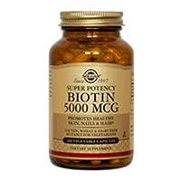 Solgar. Biotin 5000mcg 100 Vcaps (2-Pack)