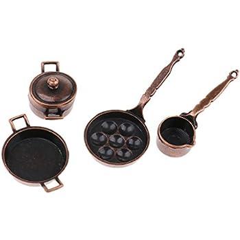 Amazon.com: Magideal Vintage 5 piezas en miniatura aleación ...
