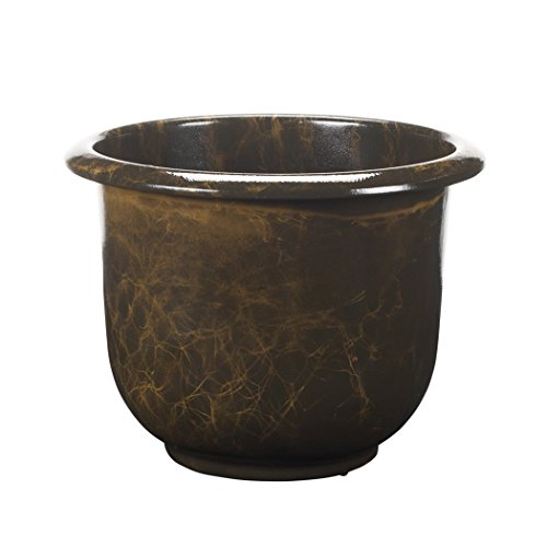 Novelty Round Moonstone Planter, Brown, 16-Inch ()