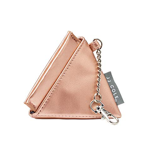 JJ Cole Vegan Leather Pacifier Pyramid, Rose Gold
