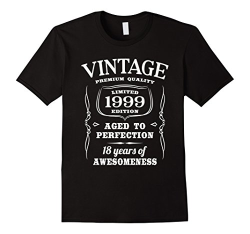 Men's 18th Birthday Gift T-Shirt Limited 1999 Edition Large Black