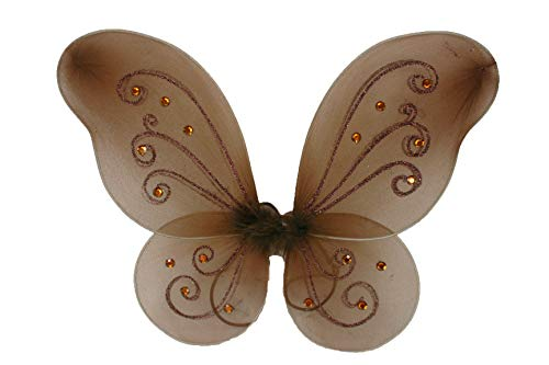 NST 1 Butterfly Fairy Costume Tulle Wings Decorated with Glitter and Acrylic Rhinestones (19