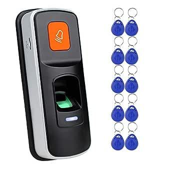 Lector de Control de Acceso RFID Independiente con Huella Dactilar ...