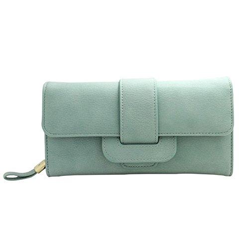 Coin Handbag Holder Clutch Wallets Badiya Card Purses for Gifts Women Women Leather PU Long Green Clutch xaqF8