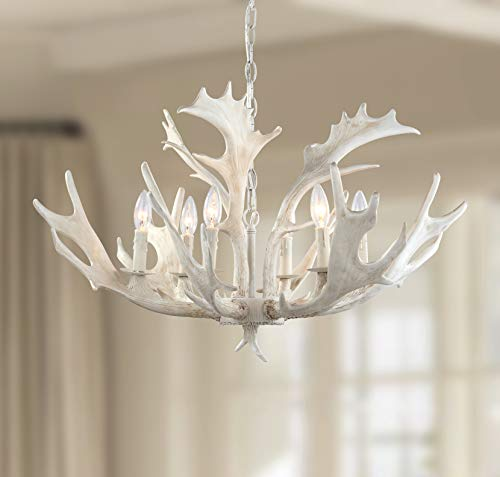 "Safavieh CHA4003A Lighting Collection Birch 30"" Antler White Chandelier,"