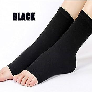 VERISA® Medical Grade Graduated Ankle Sleeve Brace Compression Socks for Foot Pain, Plantar Fasciitis, Achilles Tendonitis, Varicose Vein , Women and Men Black