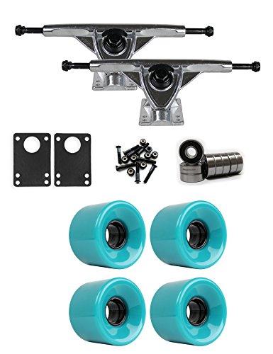 TGM Skateboards RKP Raw Longboard Trucks Wheels Package 59mm x 43mm 83A 3262C Green