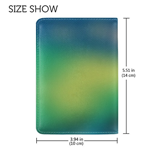 Glare Light Stains Leather Passport Holder Cover Case Travel One Pocket