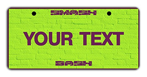 BleuReign(TM) Personalized Custom Name Superhero Series: Incredible Smash Bash Green License Plate Bicycle Bike Moped Golf Cart 3