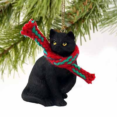 Conversation Concepts 1 X Tiny Ones Black Cat Ornament w/Scarf