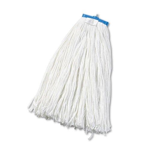 - Cut-End Lie-Flat Wet Mop Head, Rayon, 24oz, White, Sold as 1 Each
