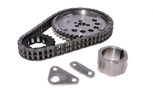 Double Thrust Cam Bearing - Competition Cams 7106 Keyway Adjustable Billet Timing Set for GM LS Engines