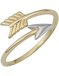 10k Two-Tone Gold Bypass Arrow Ring (size 6, 7, 8 or 9)