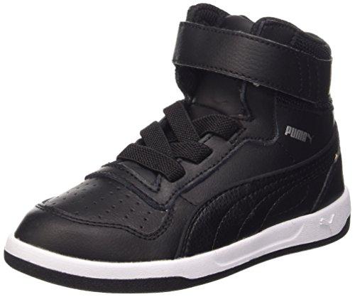 Puma Liza Mid, Mädchen Hohe Sneakers Nero (Black/Black/Black)