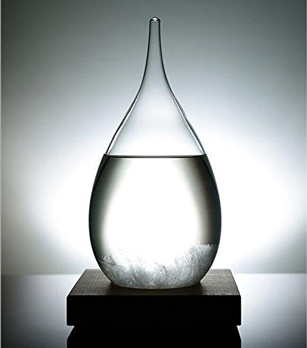 Unique Gadgets & Toys Storm Glass Weather Station Crystal Drop Barometer (Weather Station Crystal)