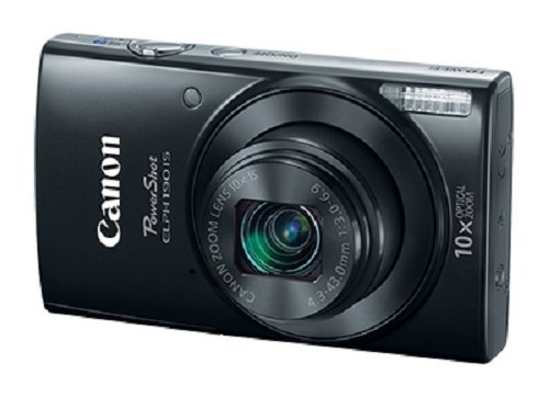 Canon PowerShot ELPH 190 Digital Camera w/ 10x Optical Zoom and Image Stabilization – Wi-Fi & NFC Enabled (Black)