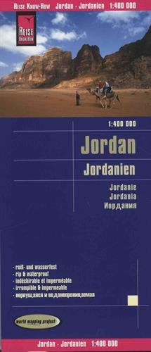 Jordanie : 1/400 000 (Allemand) Carte – Carte pliée, 11 mai 2015 Reise Know-How 3831773084 Gazetteers & Maps) Atlases
