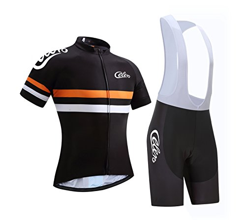 Celero Men's Cycling Suits Short Sleeve Bike Jersey and Bib - Sleeve Short Mens Suit
