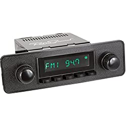 RetroSound HB-402-36-96 Hermosa Direct-Fit Radio for Classic Vehicles (Black Face and Buttons, Black Faceplate)