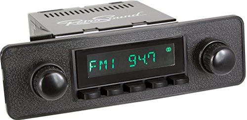 Beetle Classic (RetroSound HB-402-36-96 Hermosa Direct-Fit Radio for Classic Vehicles (Black Face and Buttons, Black Faceplate))