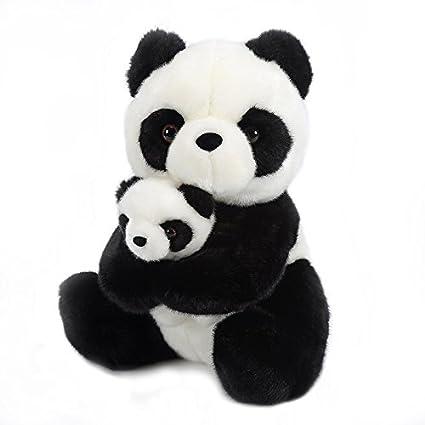 433ee29f97486 Lazada Mum Panda Hold Baby Panda Stuffed Animal Plush Toy Dolls 12    Amazon .co.uk  Toys   Games