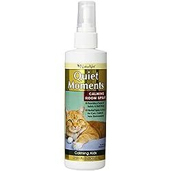 NaturVet Quiet Moments Herbal Calming Spray, 8 Ounce- Feline