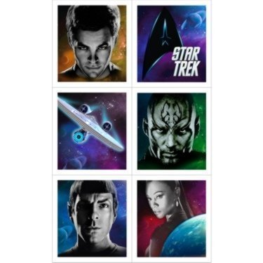 Star Trek Party Stickers (4 sticker sheets/24 stickers) Star Trek Stickers