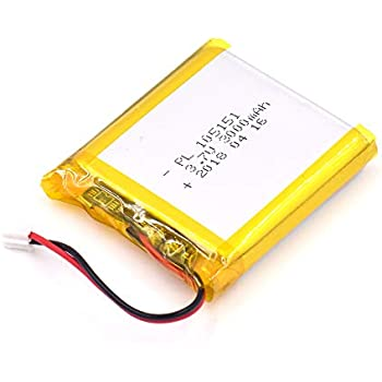3.7V 4000mAh 125050 Lipo Battery Rechargeable Lithium Polymer ion Battery Pack with JST Connector