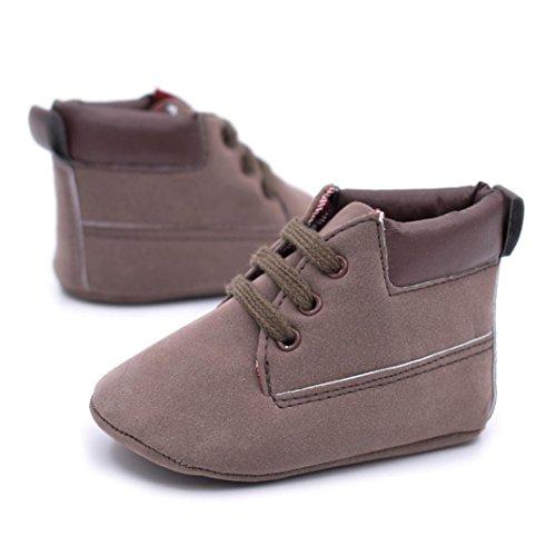 Baby Schuhe Clode® Baby weiche warme Sohle Leder Schuhe Infant Jungen Mädchen Kleinkind Schuhe Kaffee