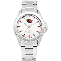 Oregon State Beavers Men's Silver Dial Sport Bracelet Watch