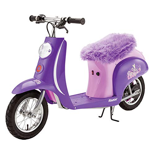 Razor Euro Style Vintage Inspired Steel Electric Scooter Pocket Mod, Purple