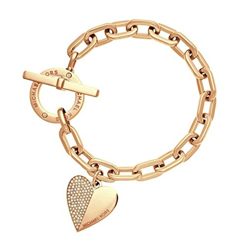 patcharin shop Womens Jewelry Stainless Steel Heart Style Charm Chain Bracelet Silver/Gold Color gold