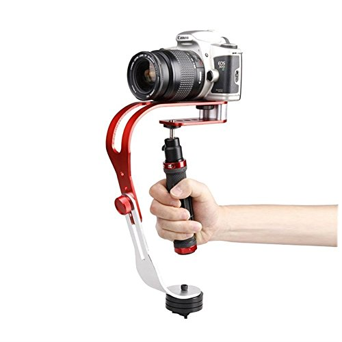 KOFANI PRO Handheld Video Camera Stabilizer Steady, Perfect for GoPro 5/4/3/3+, iPhone and Other Smartphone, Cannon, Nikon, Sony or any DSLR Camera up to 2.1 pounds (Red) - Steady Point