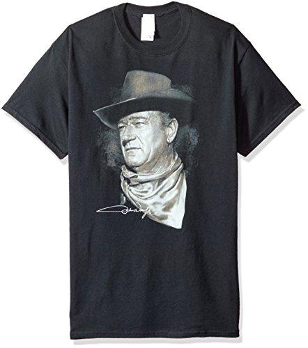 Trevco Men's John Wayne Short Sleeve T-Shirt, Black, X-Large ()