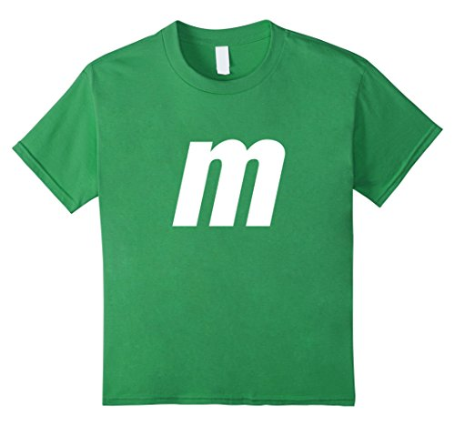 Kids M Letter Halloween Candy Costume T-shirt 12 (Easy Group Halloween Costumes For Girls)